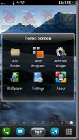 Homescreen Settings
